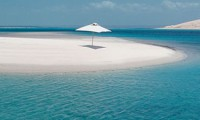 Pristine sandbank beaches
